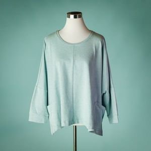 LOGO Lounge XL French Terry Drop Shoulder Top